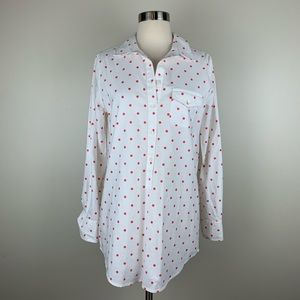 J. Crew Factory Dotted Oxford Pocket Tunic K3297